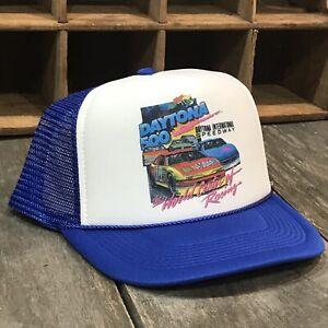 Details about Daytona 500 Race Nascar Car Vintage 90's Style Trucker Hat  Snapback Blue Mesh 1d472085f22