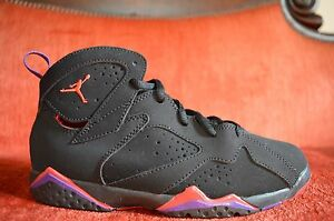 best sneakers 000cd 58090 Details about Nike Air Jordan Retro 7 VII Raptors Red Black Purple Boy  Shoes 3Y 304773 018