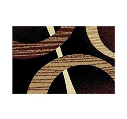 Throw Rugs 3 Piece Set Living Room Big Area Floor Mat Runner Scatter Brown Black