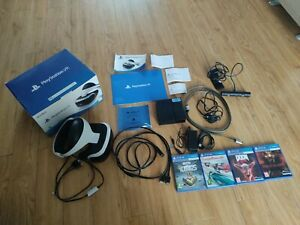 Details about Sony ps4 PlayStation 4 ps VR psvr headset 4 games camera doom wipeout until dawn