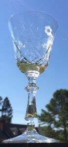LIBBEY-Rock-Sharpe-Crystal-2014-2-SIX-Wine-Goblets-EXCELLENT-CONDITION