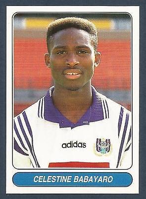 #021-ANDERLECHT//NIGERIA-CELESTINE BABAYARO PANINI EUROPEAN FOOTBALL STARS 1997