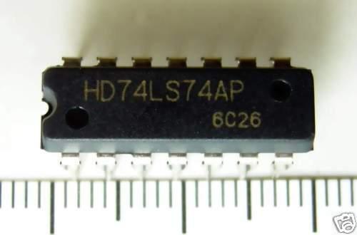 4x IC 74ls74an nuevo