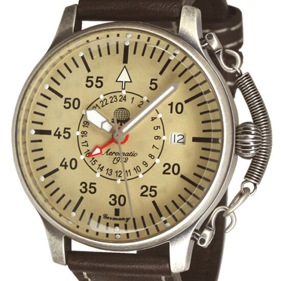 GMT 24H RETRODESIGN 2.WW Observer AVIATOR Feather Crown protect A1407