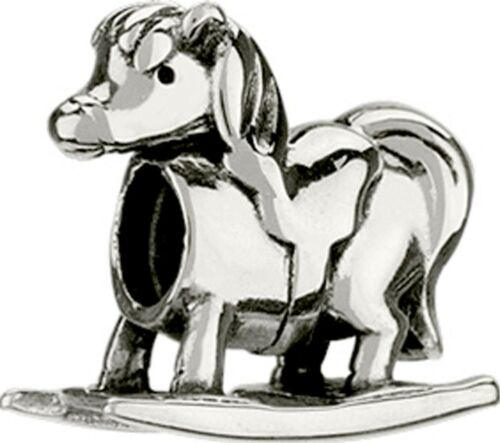 AUTHENTIC CHAMILIA 925 STERLING SILVER ROCKING HORSE BEAD GA-145 BABY CHARM NEW