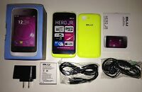 Brand Blu Hero Jr S250 Yellow Unlocked Smartphone Dual Sim Easy To Use
