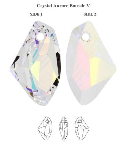 Plusieurs Couleurs /& Tailles Genuine Swarovski 6656 Galactic vertical cristaux Pendentifs