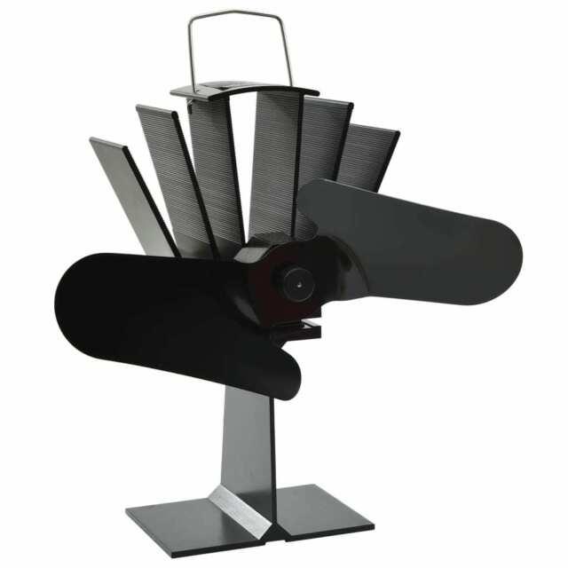 vidaXL Ventilateur de Poêle Alimenté par Chaleur 2 Pales Maison Cheminée