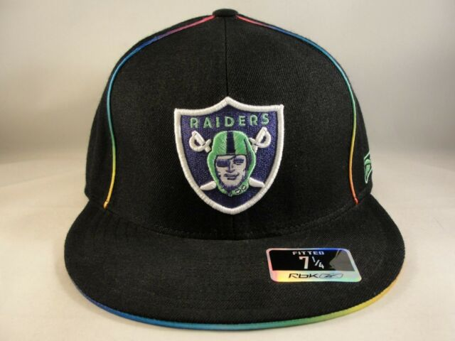 7cb5def410e NFL Oakland Raiders Reebok Kaleidoscope Fitted Hat Cap Size 7 1 4 for sale  online