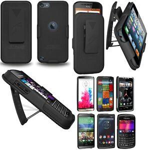 AMZER-Hard-Shellster-Belt-Clip-Case-For-Apple-BlackBerry-HTC-LG-Motorola-Black