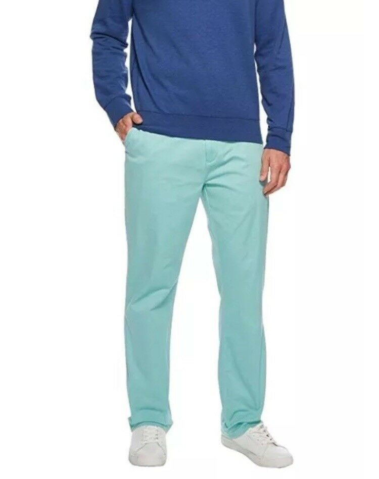 NWT  Men's Polo Ralph Lauren Stretch Classic Fit Flat Pants Tiki Green 36 30