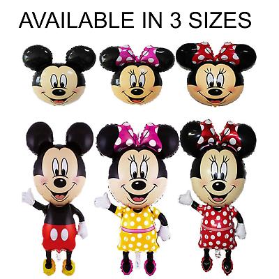 Disney Mickey//Minnie Mouse Giant Foil Balloons Kids Birthday Pannu Design Baloon