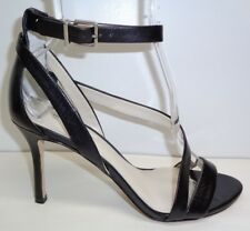 eb1f87e27f52 BCBG BCBGeneration Size 9.5 M DIEGO Black Leather Heels Sandals New Womens  Shoes