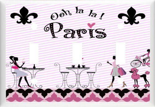 OOH LA LA  PARIS CAFE EIFFEL TOWER FLEUR DE LIS # K 2 LIGHT SWITCH COVER PLATE