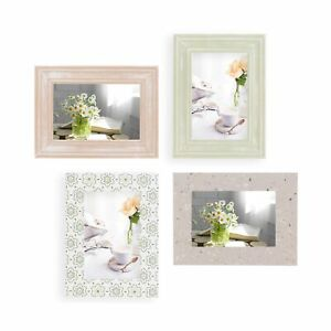 4x6 Picture Frames 4x6 Frame Set of 4 For Wall Collage - Wood, Turquoise, Whi...