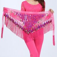 Pop Dance Hip Scarf Belly Dancing Costume Skirt Wrap Waist Belt With Shell Coins