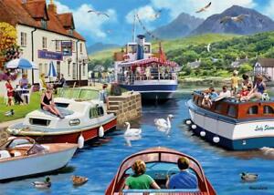 NEW-Falcon-de-luxe-A-Day-on-the-River-1000-piece-nostalgic-jigsaw-puzzle-11241