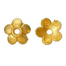 100x Perlenkappen Perlkappen Endkappen filigran Blumen für 8 mm Perlen vergoldet