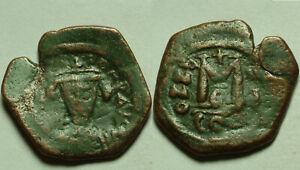 Rare genuine ancient BYZANTINE coin Heraclius Follis Constantinople 610AD