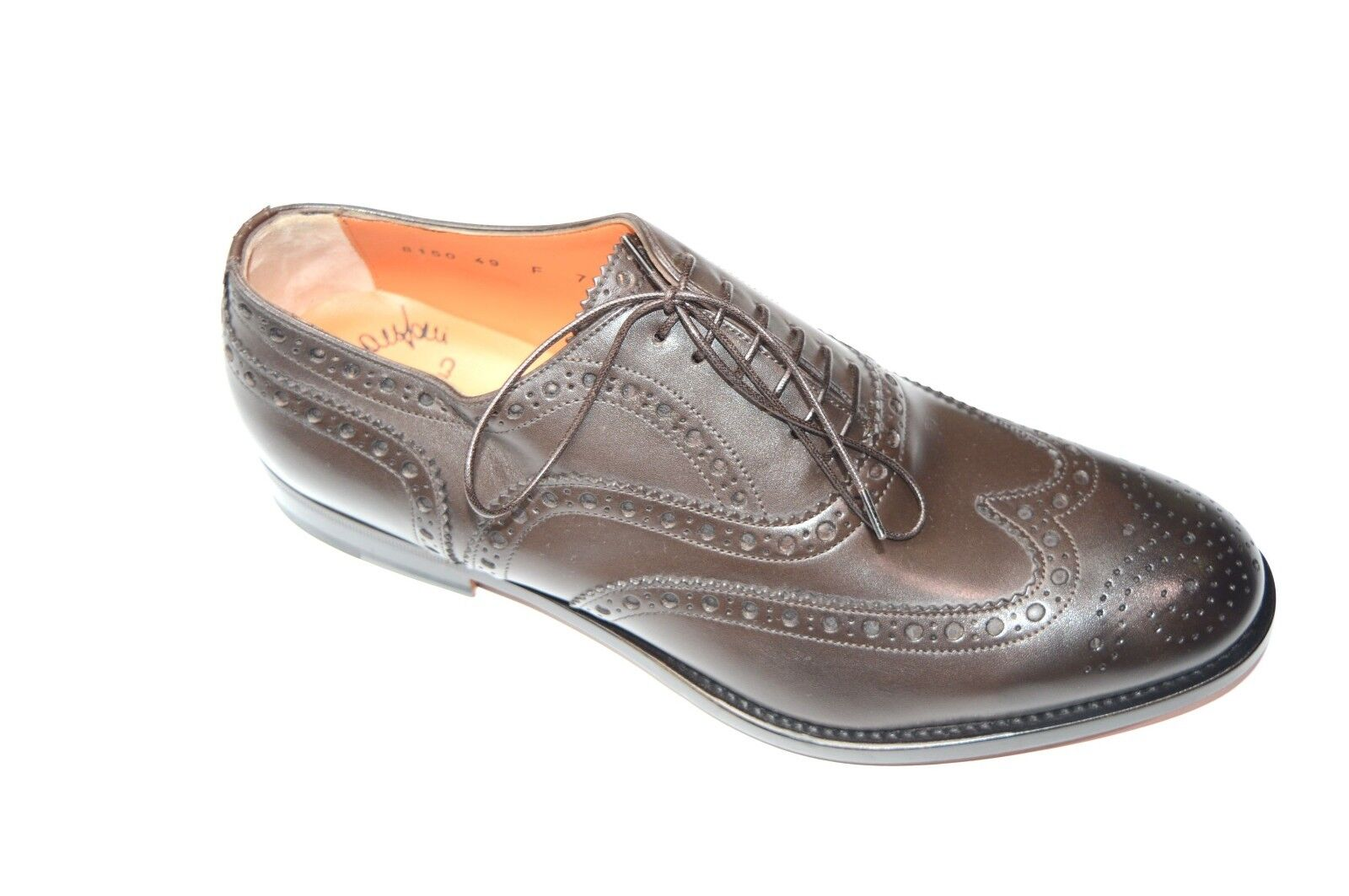 NEW SANTONI Dress Brown Pelle Shoes  SIZE Eu Eu Eu 41 Uk 7 Us 8 (50R) 1b41b4