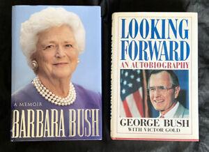 A Memoir & Looking Forward By Barbara Bush & George Bush Autographed Signed HC