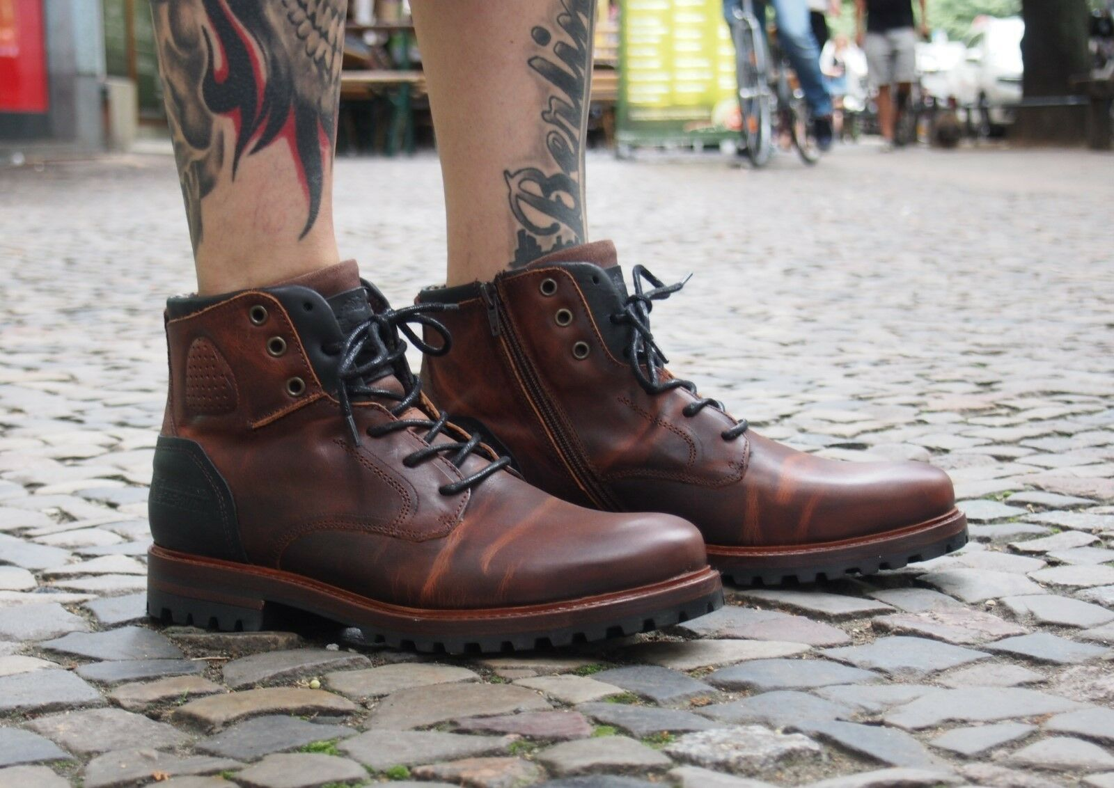 Bullboxer Schuh 10 632 braun Herrenschuhe SALE Stiefel Echtleder Winterschuhe NEU SALE Herrenschuhe 6e6e98