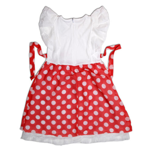 New Girls Dotted Party Dress in Pink Orange  8-9 9-10 10-11 Years