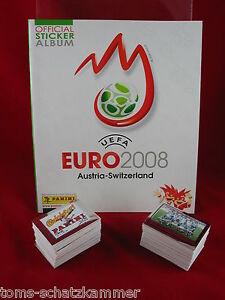 Panini-Euro-2008-Satz-komplett-Album-EM-08-alle-535-Sticker-Leeralbum