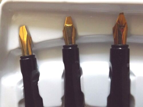 NEW CALLIGRAPHY SET GENUINE 22 CARAT GOLD PLATED 6 NIBS PEN INK /& CARTRIDGES
