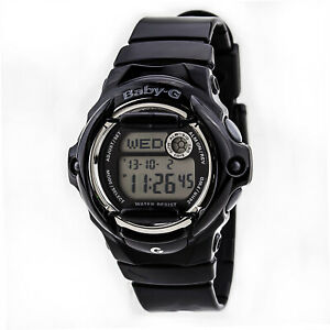 Casio-Women-039-s-Watch-Baby-G-Digital-Black-and-Grey-Dial-Resin-Strap-BG169R-1