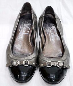 7f4e32b6eb3 Image is loading AGL-Attilio-Giusti-Leombruni-Bronze-Pewter-Leather-Toe-