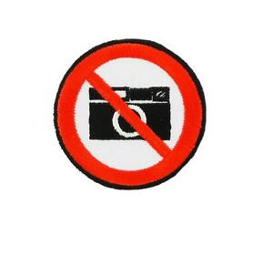 Patch-Embroidered-Badge-Flag-Backpack-Photo-Forbidden-No-Picture-Thermoadhesive