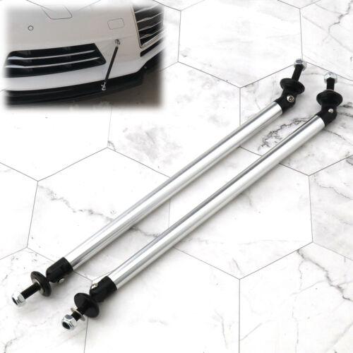 Rear Silver Universal 200mm Bumper Lip Splitter Rod Strut Bar Support Front