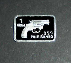 Image Is Loading Gun Pistol Revolver Target Silver Gram Bullion Birthday