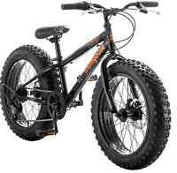 Mongoose Bike 20 Inch Boys Fat Tire Bikes Compac 7-speed Boy Black Bicycles
