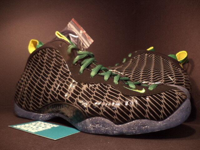 Nike Air FOAMPOSITE ONE 1 PREMIUM UO QS OREGON DUCKS BLACK YELLOW GREEN GREY 9