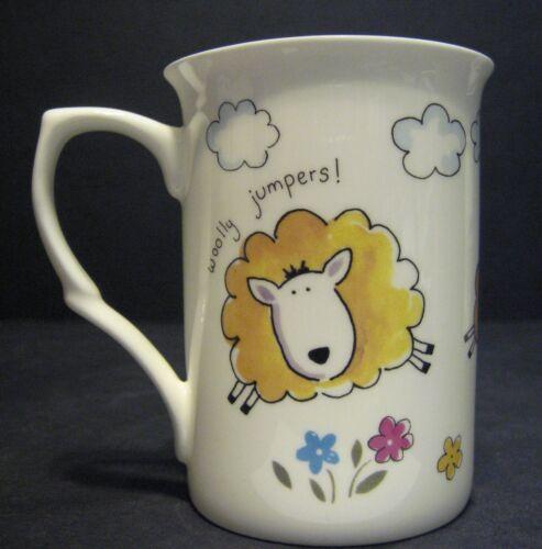 3 conjunto de tres ovejas Cerdo Corral divertido Vaca Porcelana Fina Tazas Tazas Vasos