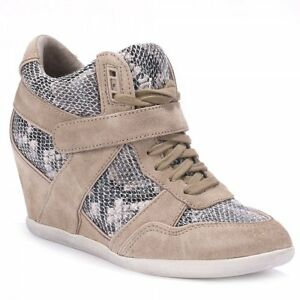 Taupe Snake amp; Print £159 Ash Trainers 36 Bisou 5qRFff