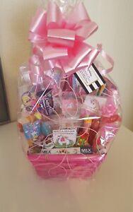 Unicorn Gift Basket Hamper Headbands Hairclips Sweets Chocolate