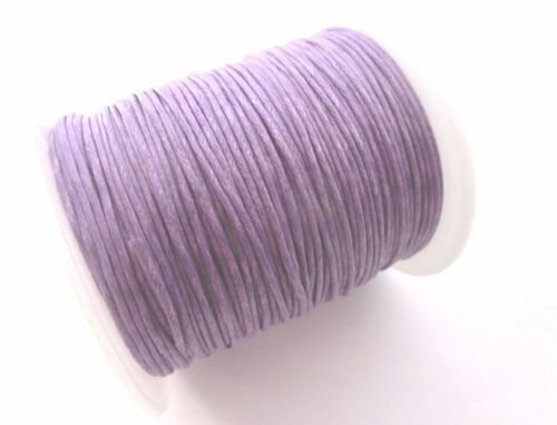 75m cordón 1mm baumwollschnur aproximadamente baumwollkordel aspiraran lilas