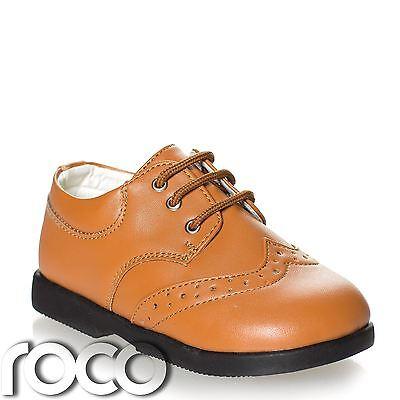 Jungen hellbraun Schuhe, Schuhe Formell, hichzeitsschuhe, Ball Babyschuhe