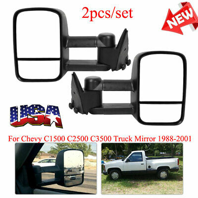 Pair Manual Door Mirrors Left /& Right Fits Chevy GMC Pickup # 15764759 15764760
