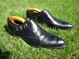 Details about VITTORIO VIRGILI SHOES 8M FOOT GLOVES BLACK BELTED ITALIAN  LOAFERS UK 7,5 EU 41