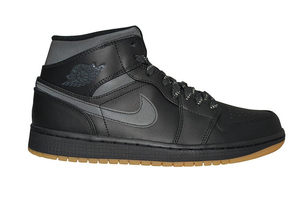 Hommes Nike Air Jordan 1 Mi Hivernée - AA3992002 - Baskets Noires Chaussures de sport pour hommes et femmes