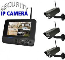 IP Funk Überwachungskamera COMAG Video Set 3 außen Kameras Videoüberwachung APP