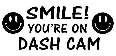 2xSmile You/'re On Dash Cam Funny Window Bumper Car Van Truck Sticker Vinyl Decal