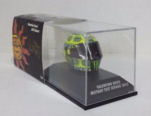 Minichamps Valentino Rossi Modèle Agv Casque Helmet 1/8 Motogp Test Sepang 2015