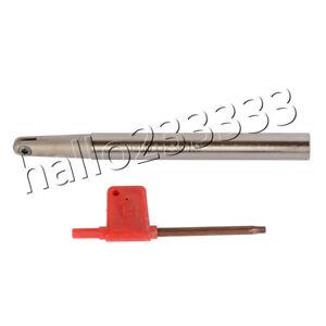 Fine Finishing Ball End Mill Holder 130mm Shank 10mm Dia Fit P3200 Insert 8R