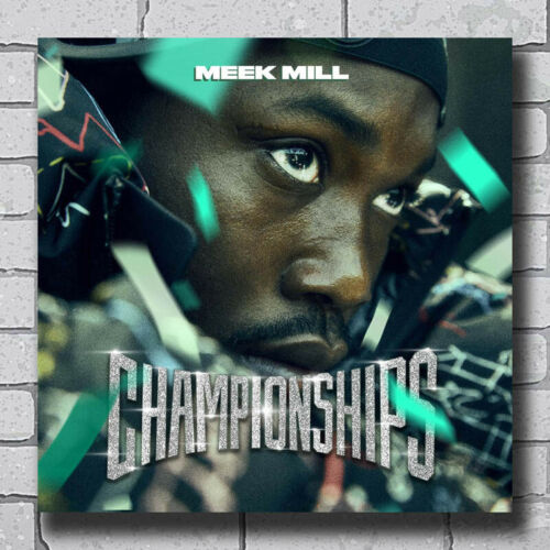 Meek Mill Championships 24x24 27x27 Art Silk Poster D-465