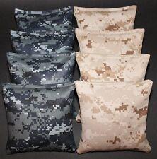 US Navy Seals & USMC Marines Digital Camo Cornhole Bean Bags 8 ACA Military Bags